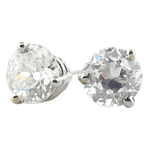 14kt White Gold 0.90ct tw Diamond Stud Earrings