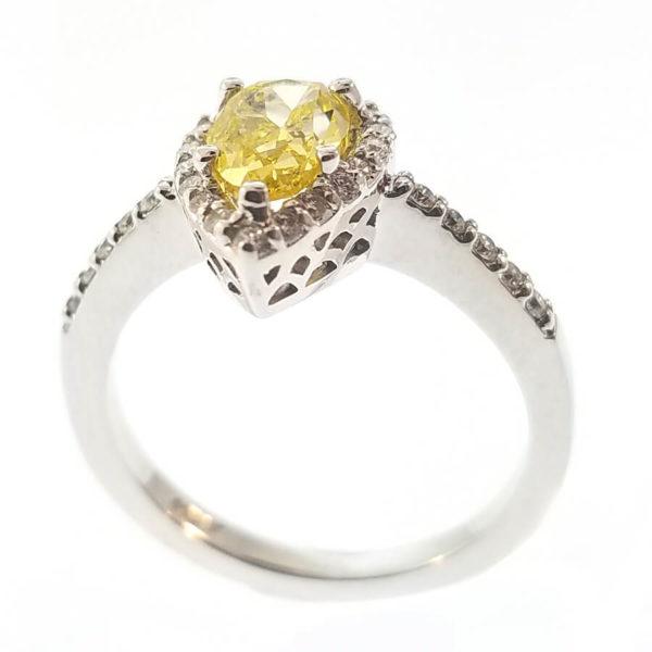 14K White Gold 1.24ct Diamond Engagement Ring