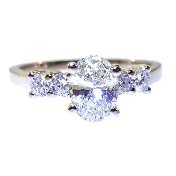 14K White Gold 1.05ct Diamond Engagement Ring