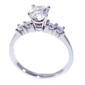 14K White Gold 1.05ct Diamond Engagement Ring