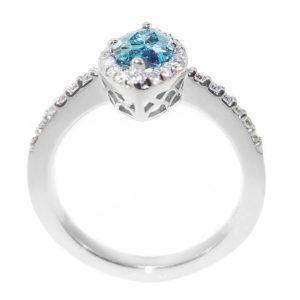 14K White Gold 1.01ct Diamond Engagement Ring
