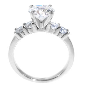 14K White Gold 1.55ct Diamond Engagement Ring