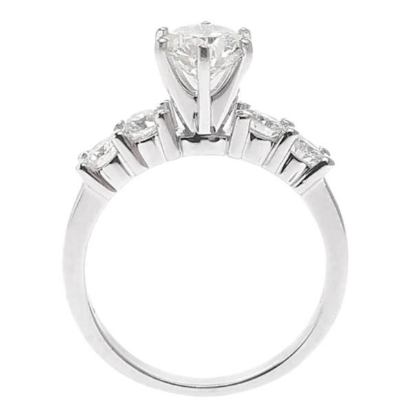 14K White Gold 1.64ct Diamond Engagement Ring