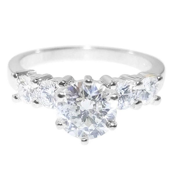 14K White Gold 1.64ct Diamond Engagement Ring