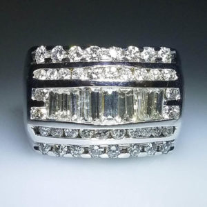 14K White Gold 1.78 ct Diamond Ring