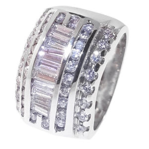 14K White Gold 1.78ct Diamond Wedding Band
