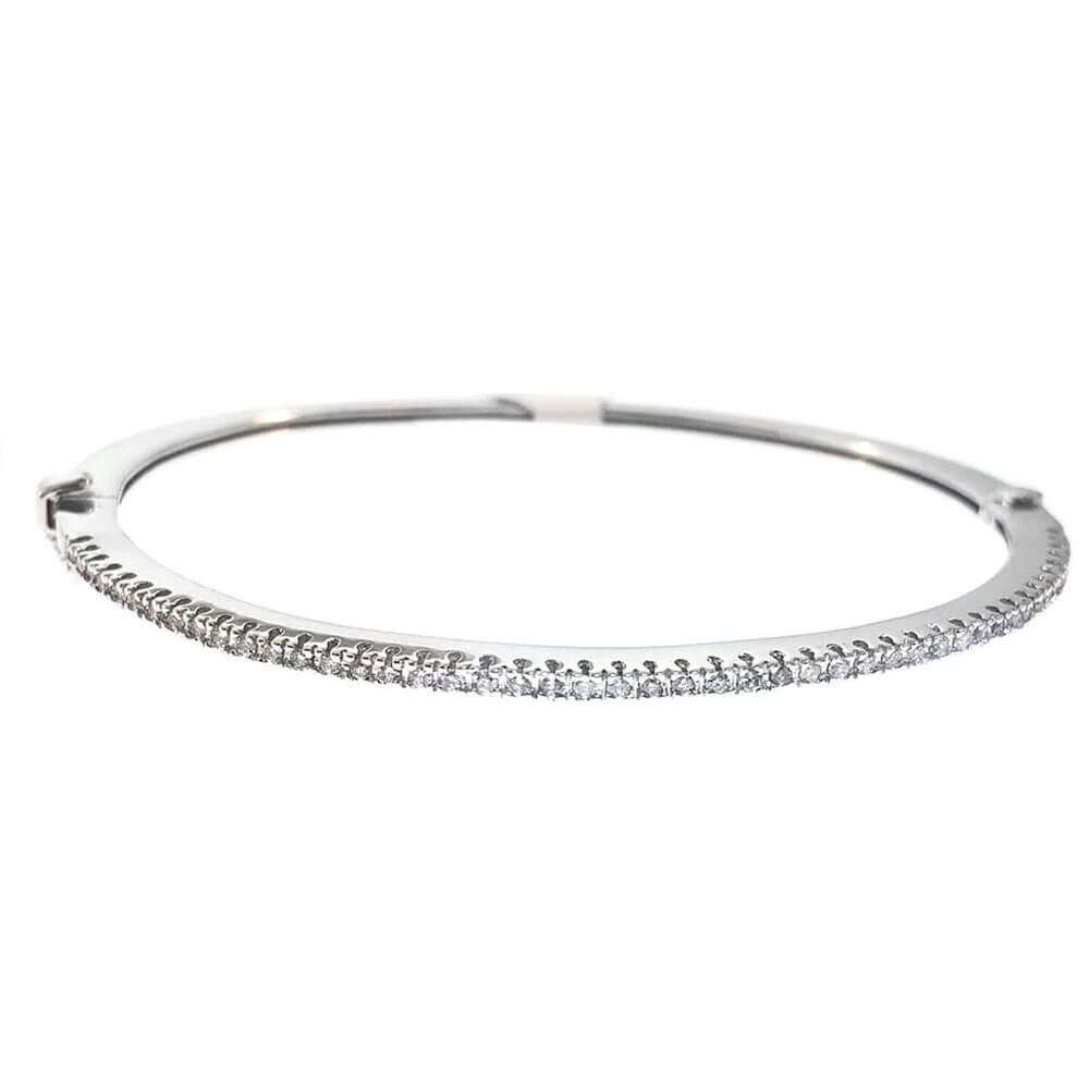 14kt White Gold 1.00ct Diamond Tennis Bracelet