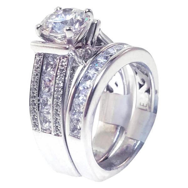 14K White Gold 2.35ct Diamond Bridal Set