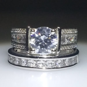 14K White Gold 2.35ct Diamond Bridal Set