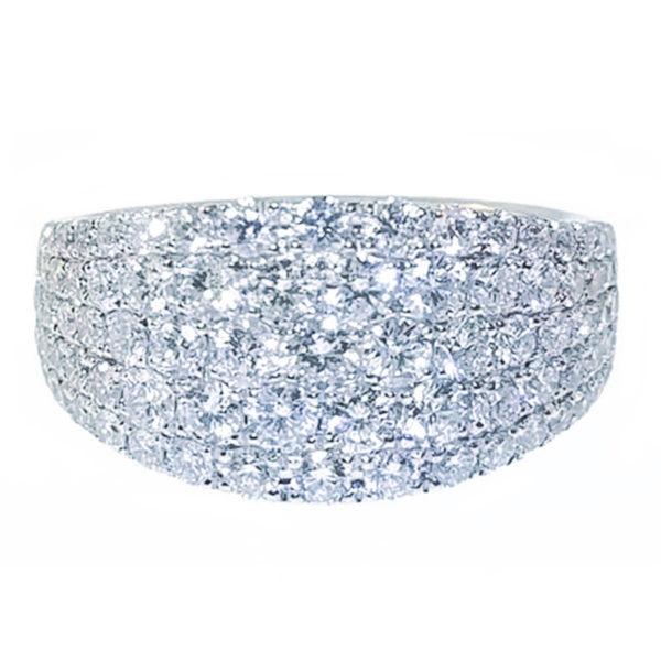 14K White Gold 2.00ct Diamond Engagement Ring