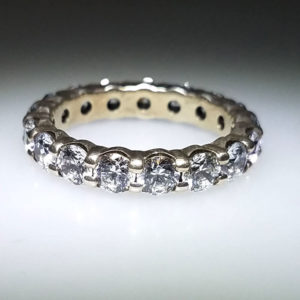 14K White Gold 3.00 ct Diamond Wedding Band