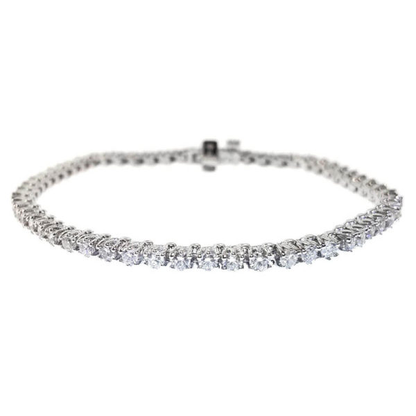 14kt White Gold 3.11ct Diamond Tennis Bracelet