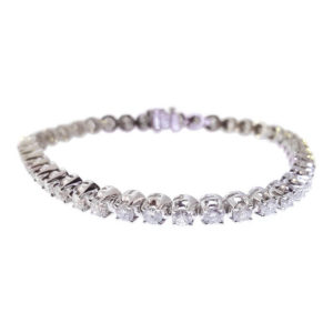 14kt White Gold 6.00ct Diamond Tennis Bracelet