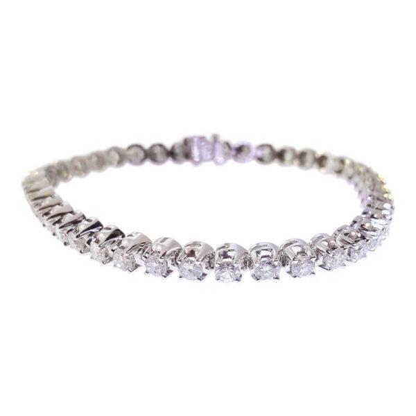 14kt White Gold 6.00ct Diamond Tennis Bracelet