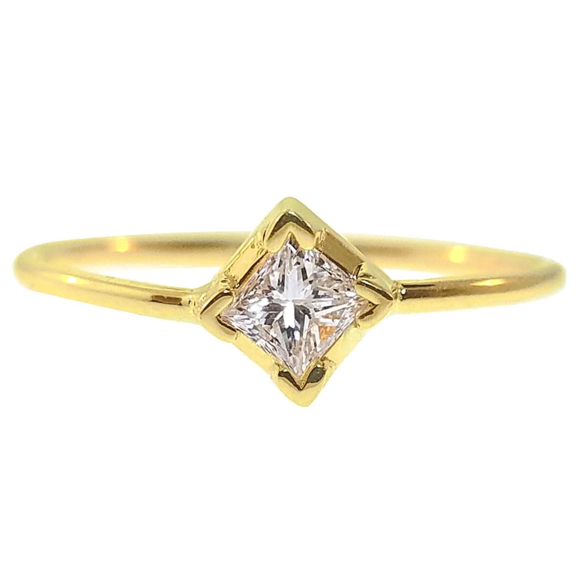 14kt Yellow Gold 0.025ct Diamond Ring