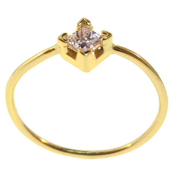 14kt Yellow Gold 0.025ct Diamond Ring