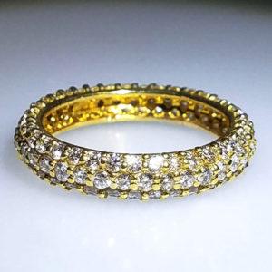 14K Yellow Gold 2.00 ct Diamond Wedding Band