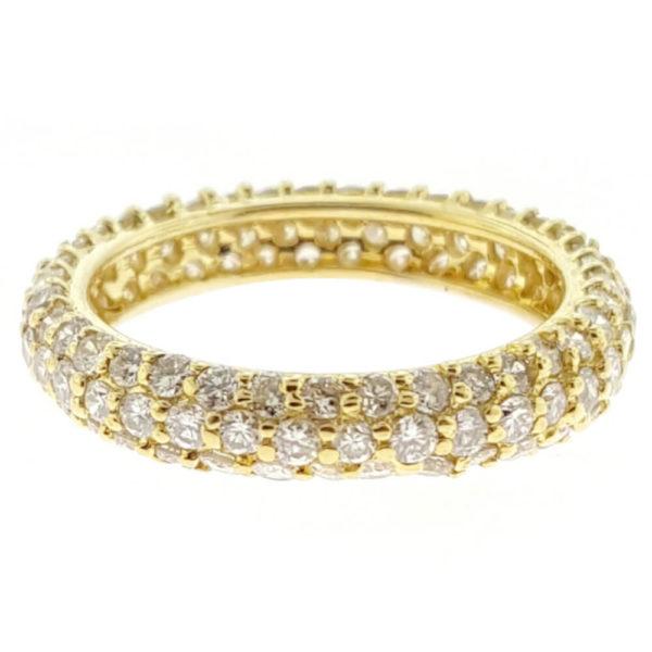 14K Yellow Gold 2.00ct Diamond Wedding Band