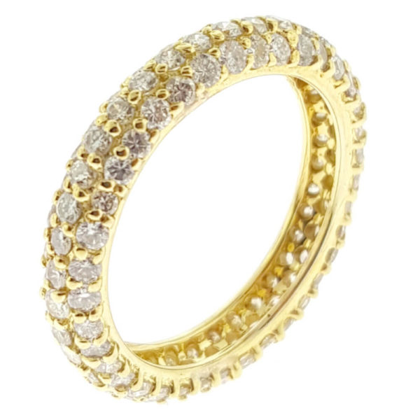 14K Yellow Gold 2.00ct Diamond Wedding Band