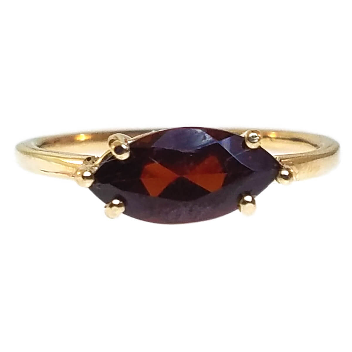 "14kt Yellow Gold ""Skinny"" Ring with Garnet"