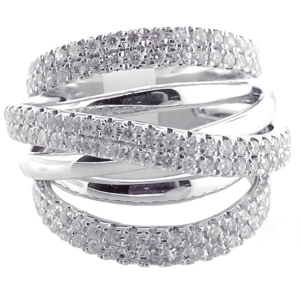 18K White Gold 1.42ct Diamond Wedding Band