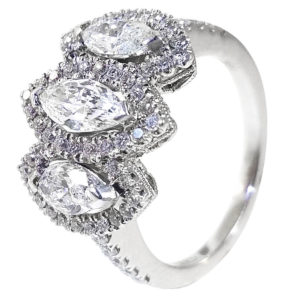 18K White Gold 1.59ct Diamond Wedding Band