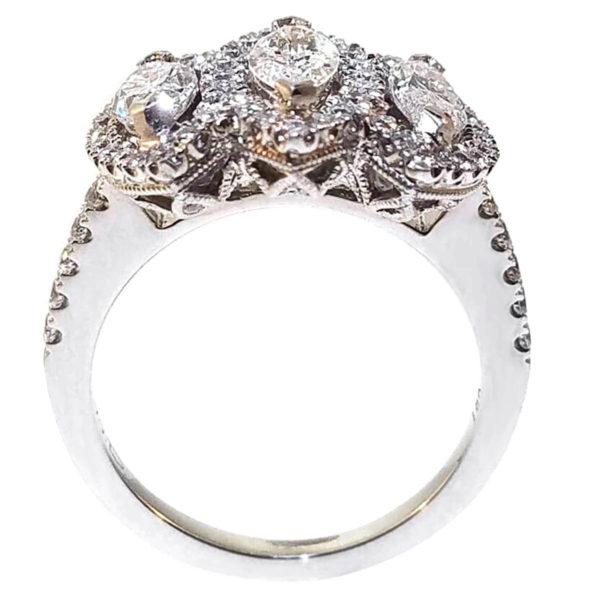 18K White Gold 1.59ct Diamond Wedding Band