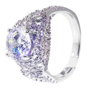 14K White Gold 1.04ct Diamond Wedding Band