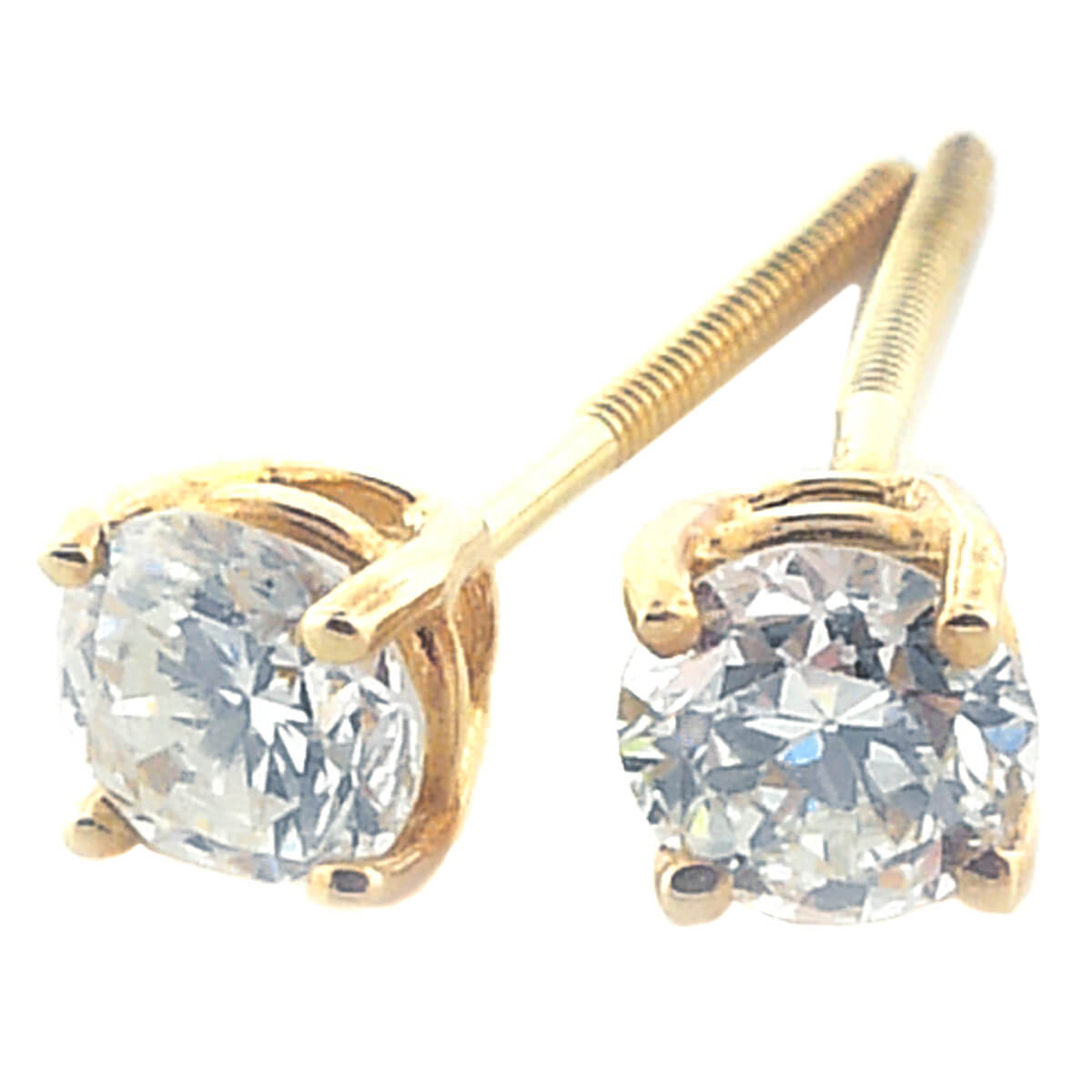 14K Yellow Gold 0.52ct Diamond Stud Earrings