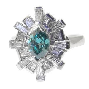 14K White Gold 1.49ct Diamond Ring
