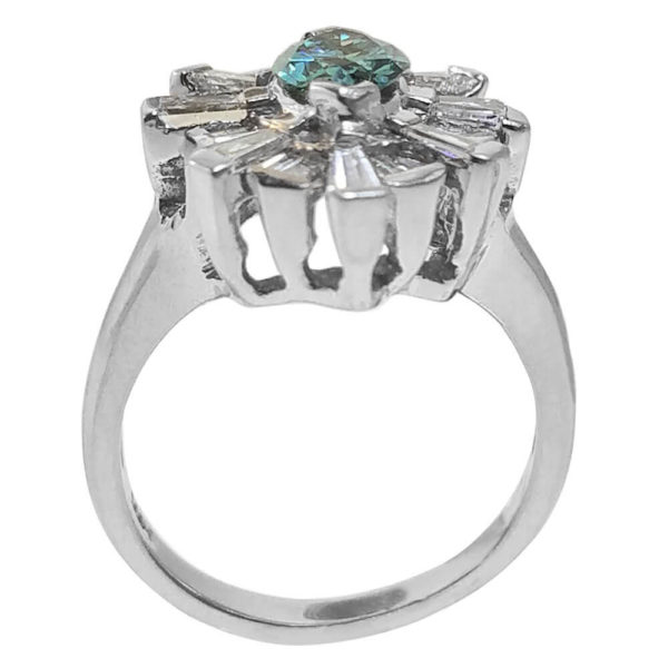 14K White Gold 1.49ct Diamond Ring