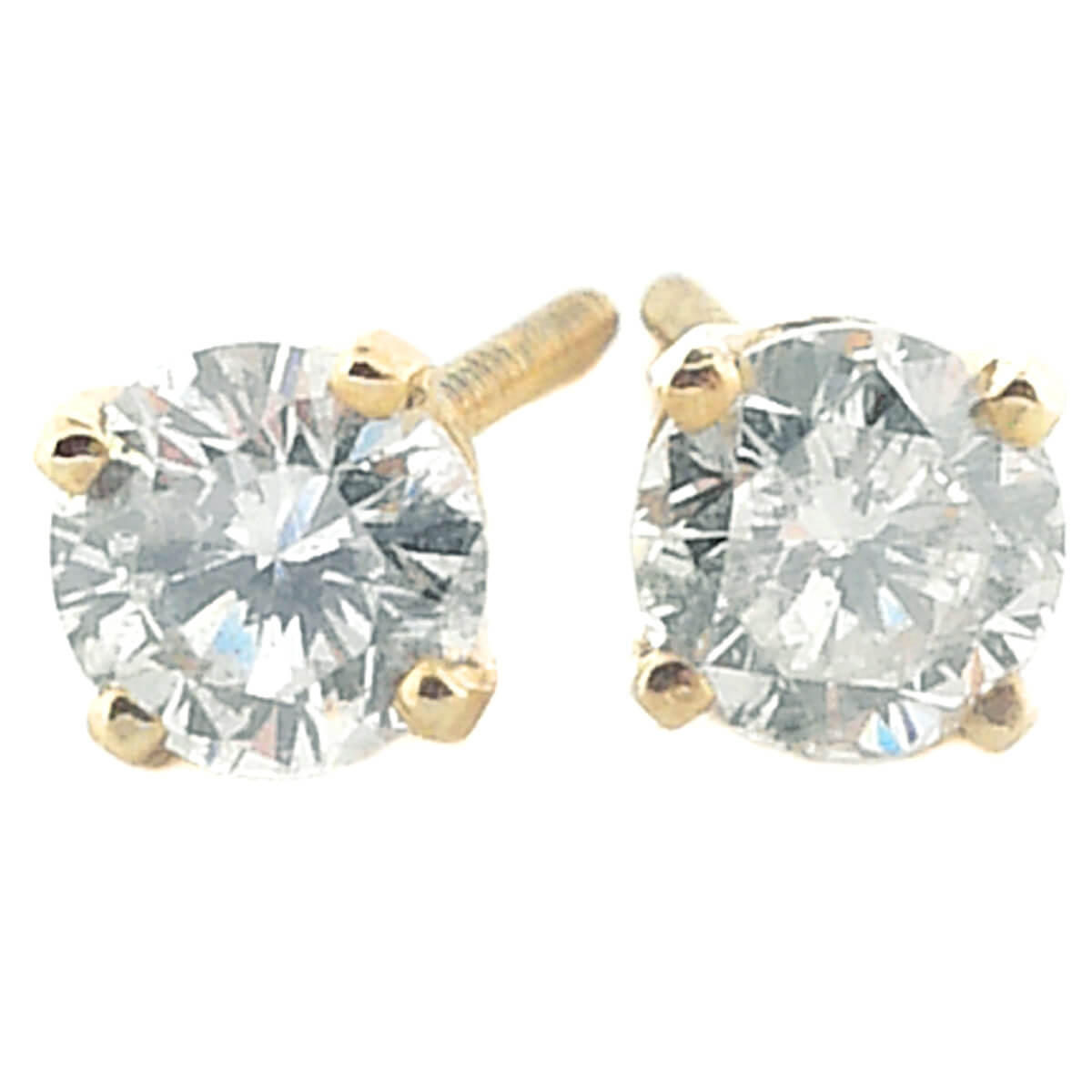 14K Yellow Gold 0.40ct Diamond Stud Earrings
