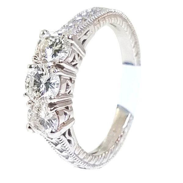 14K White Gold 0.94ct Diamond Wedding Band