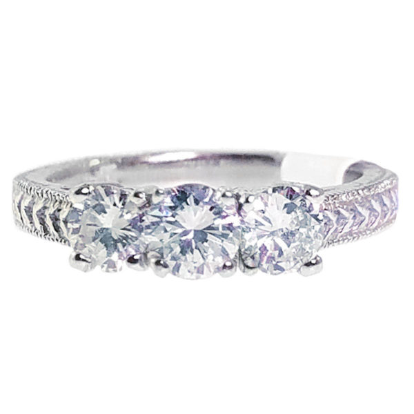 14K White Gold 0.94ct Diamond Wedding Band