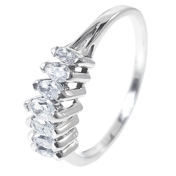 14K White Gold 0.25ct Diamond Engagement Ring