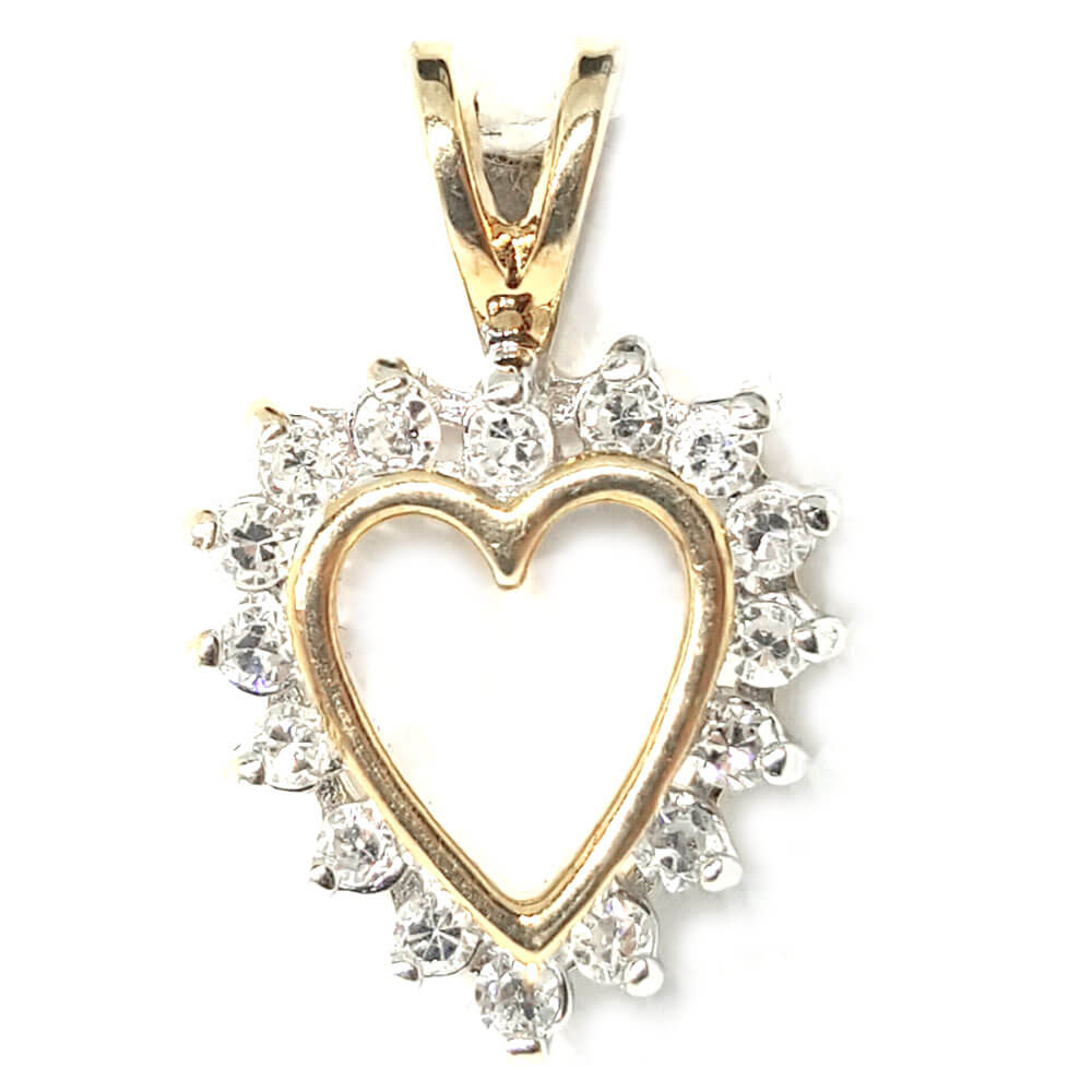 14kt yellow gold 020ct tw diamond heart pendant more than just rings product description 14kt yellow gold 025ct diamond heart pendant mozeypictures Image collections
