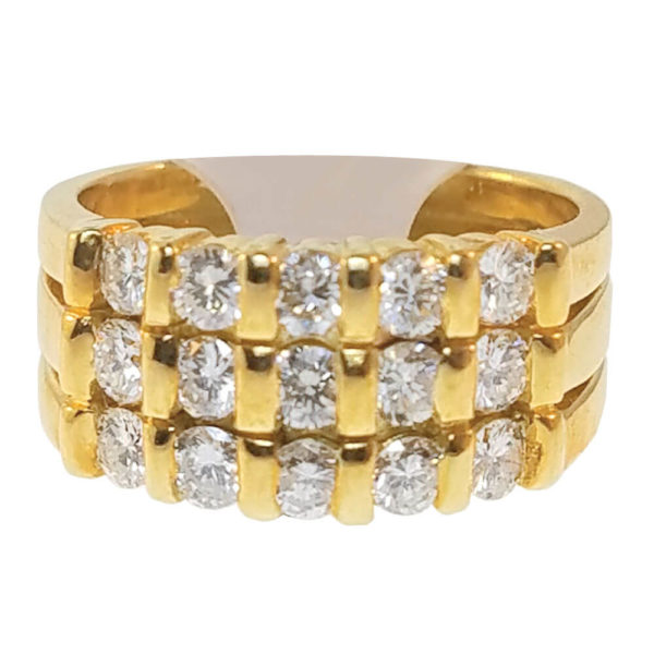 18K Yellow Gold 0.75ct Diamond Wedding Band