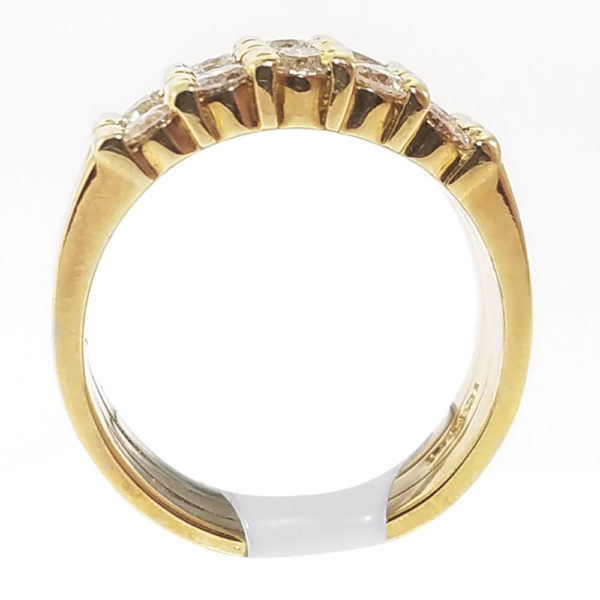 18K Yellow Gold 0.75ct Diamond Wedding Band
