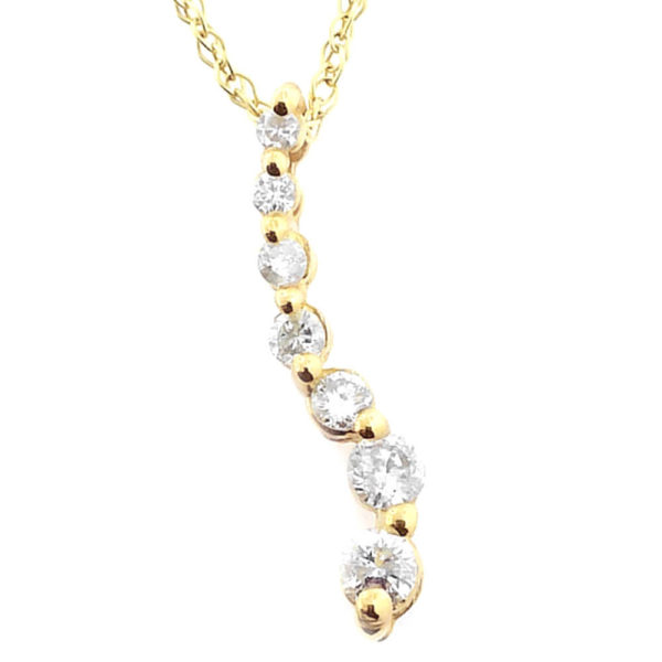 14K Yellow Gold 0.30ct Diamond Necklace
