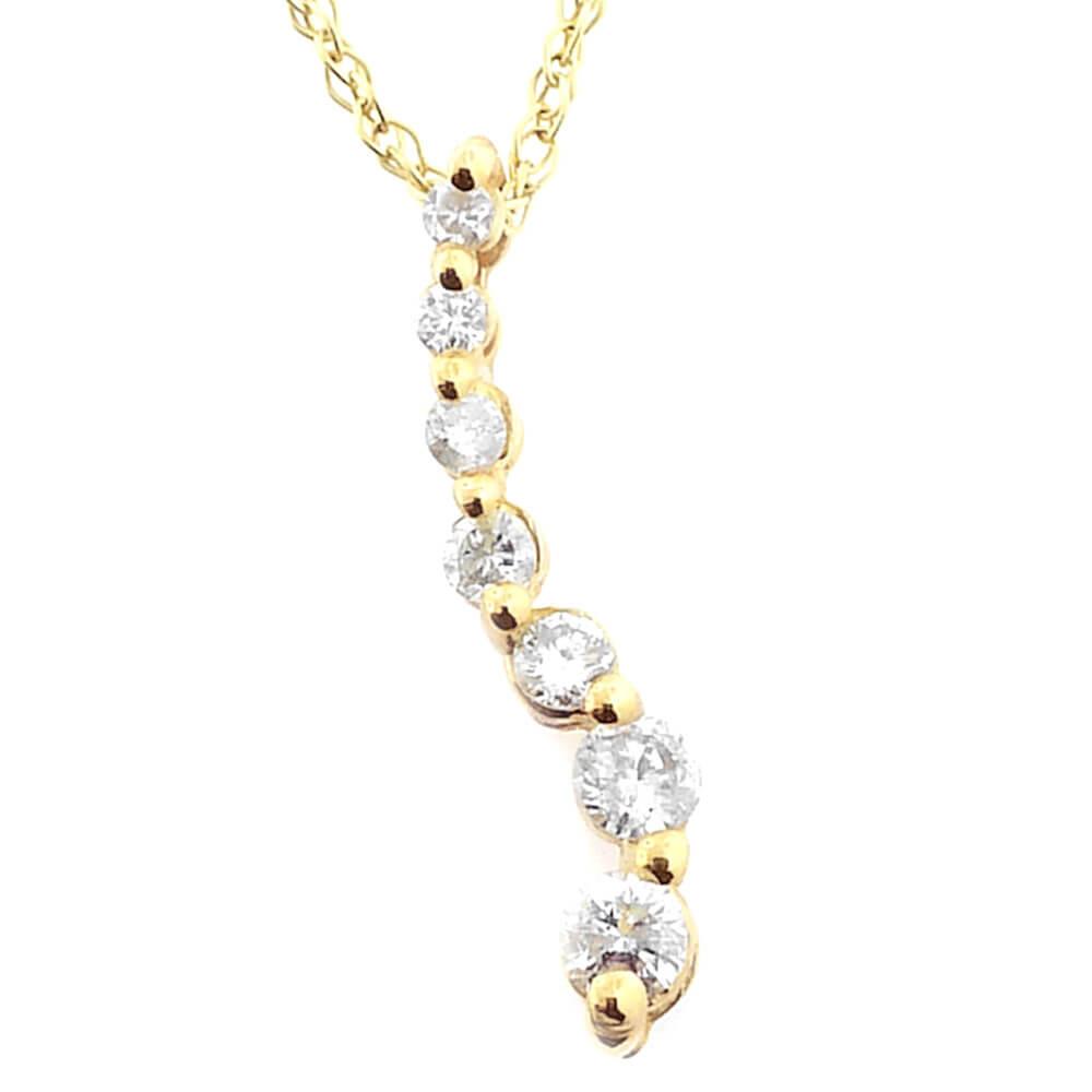 14K Yellow Gold 0.30ct Diamond Necklace