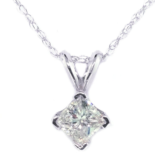 14K White Gold 0.36ct Diamond Necklace
