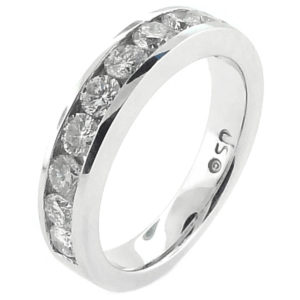 14K White Gold 1.05ct Diamond Wedding Band