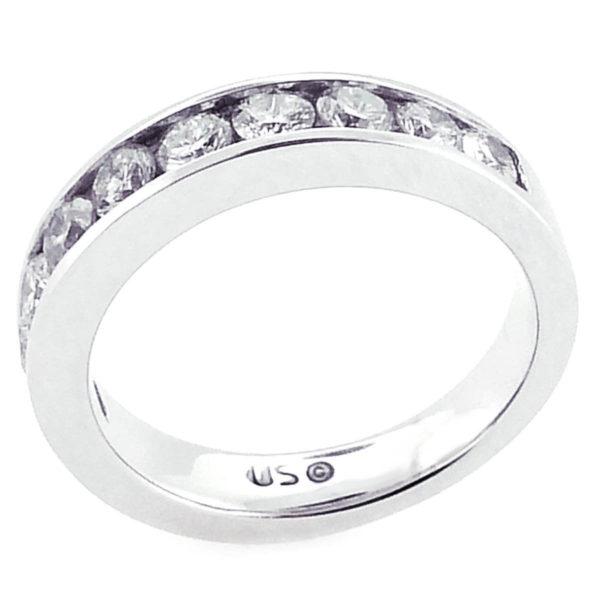14K White Gold 1.05ct Diamond Wedding Band