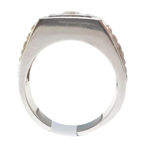 Platinum and Silver 1.01ct Diamond Ring