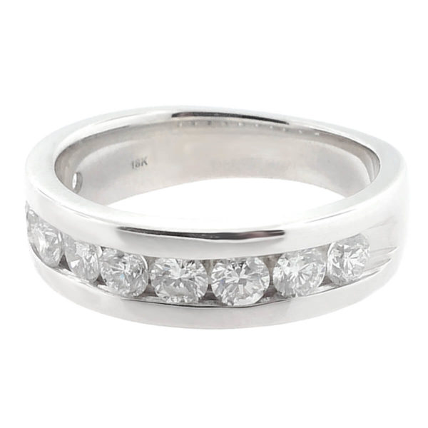 18K White Gold 1.50ct Diamond Wedding Band
