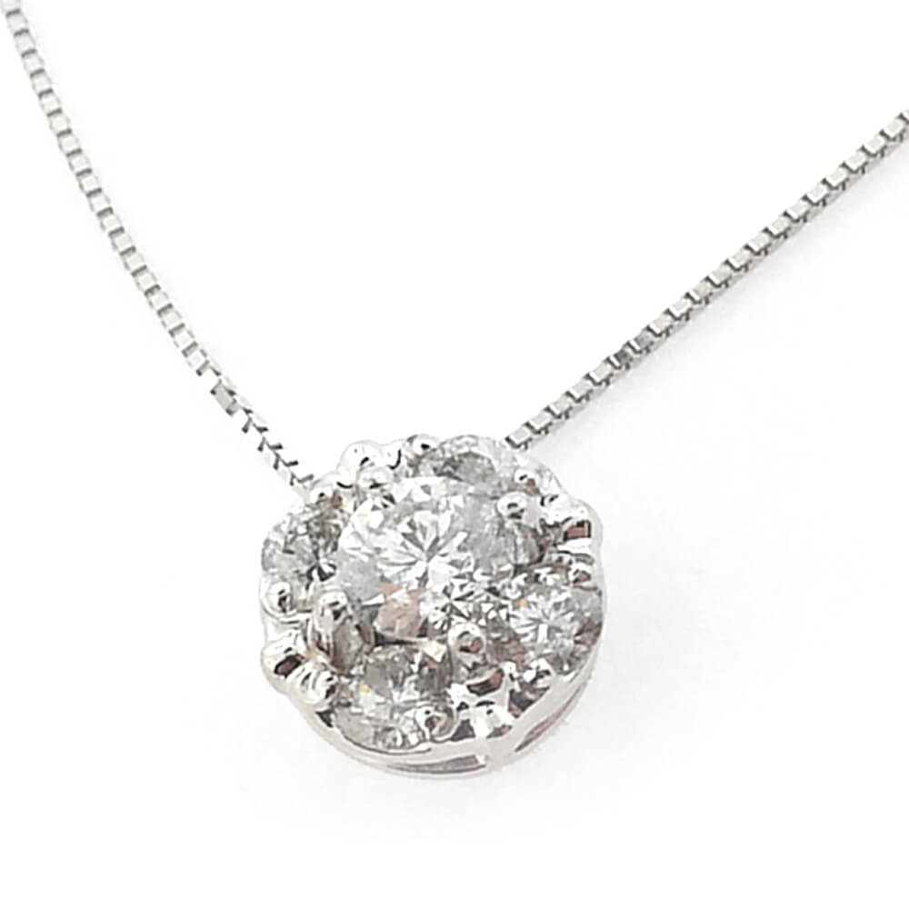 14K White Gold 0.35ct Diamond Necklace
