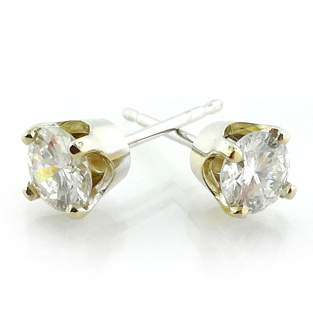 14K Yellow Gold 0.62ct Diamond Stud Earrings