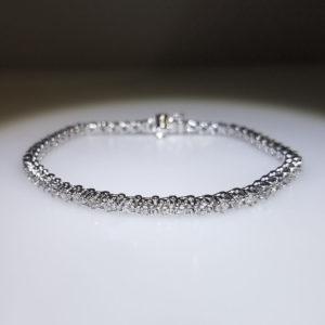 14K White Gold 3.11ct Diamond Tennis Bracelet