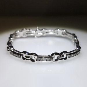 14K White Gold 1.50ct Diamond Bracelet