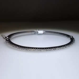 14K White Gold 1ct Diamond Bracelet